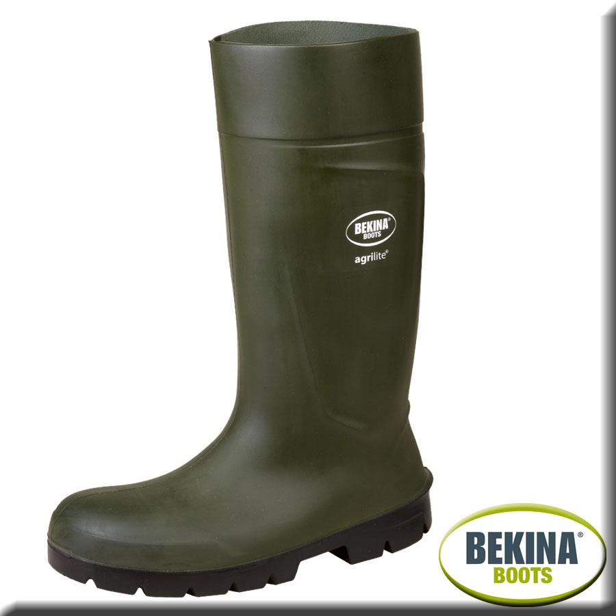 Bekina PU Sicherheitsstiefel Steplite X mit Stahlkappe wei/ß S4