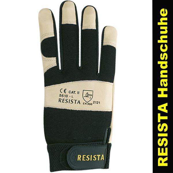 Schutzhandschuhe RESISTA-TECH - beiges Leder - 5610