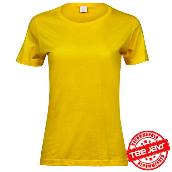 Damen Basic T-Shirt, Style 1050, TEE-JAYS-gelb