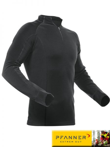 Merino-Modal Shirt, langarm, PFANNER, 101211-schwarz