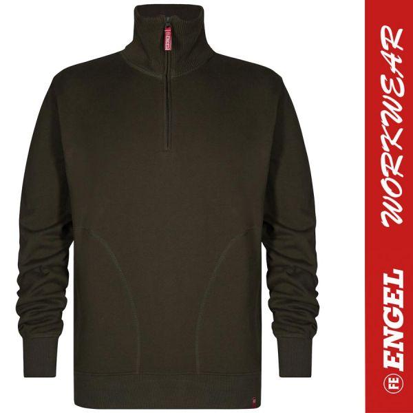 Sweatshirt mit hohem Kragen - ENGEL Workwear - 8014-waldgruen