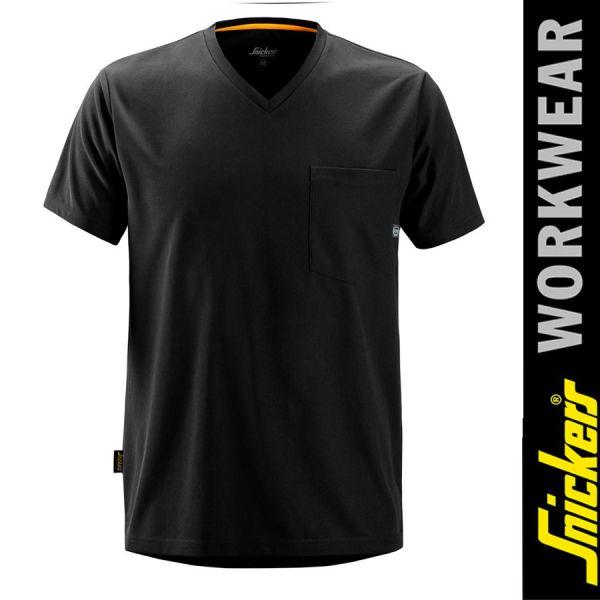 2524 Allround Work 37.5 kurzarm T-Shirt-SNICKERS WORKWEAR-schwarz