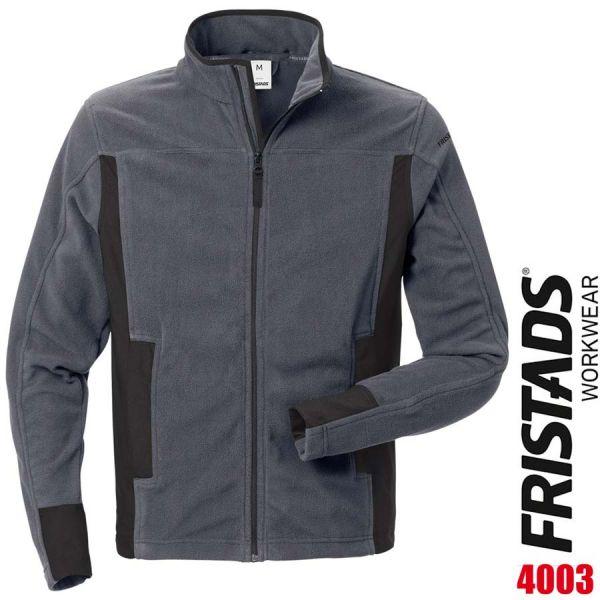 Fleecejacke 4003 MFL - FRISTADS - 120966-grau-schwarz