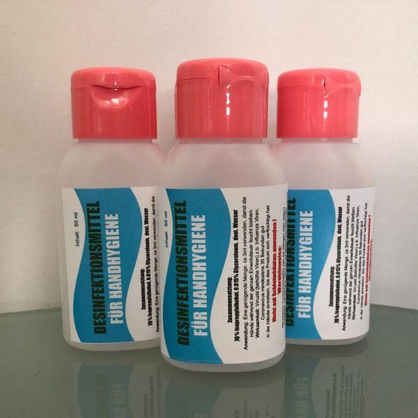 Desinfektionsmittel 50 ml - ideal zum mitnehmen