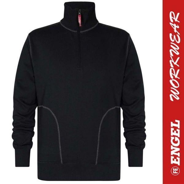 Sweatshirt mit hohem Kragen - ENGEL Workwear - 8014-schwarz