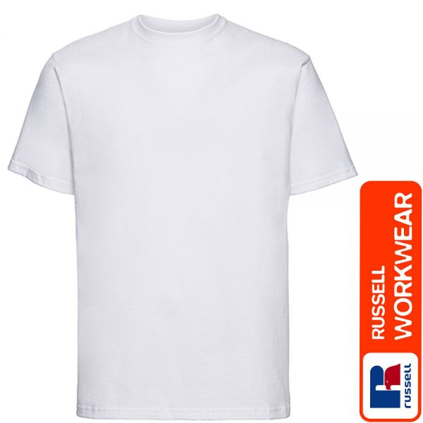 RUSSEL Classic T-Shirt Z180 - silver Label-weiss