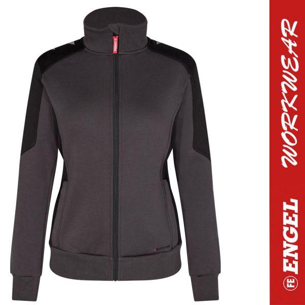 GALAXY Damen Sweatjacke - ENGEL Workwear - 8825-anthrazit-schwarz