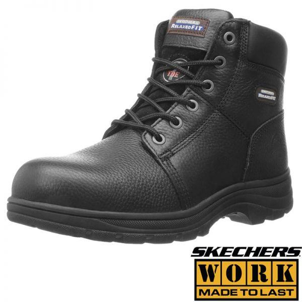SKECHERS WORK SICHERHEITSSCHUH halbhoch-Relaxed fit- Workshire – mit Schutzkappe, 887019