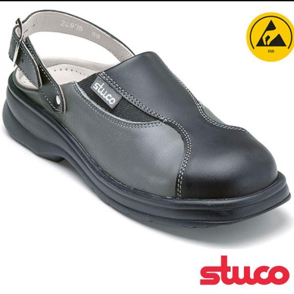 Damen Sicherheitspantolette, von STUCO, schwarz-grau - 24975