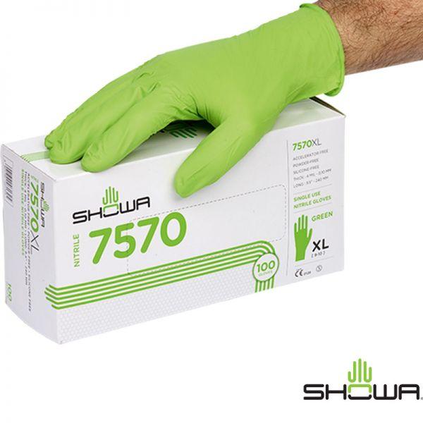 SHOWA 7570 - Einweghandschuhe-Box 100 Stck. -4230
