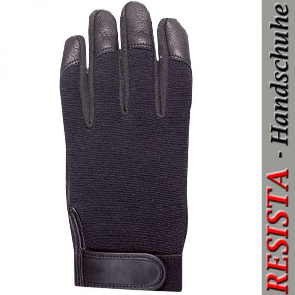 RESISTA Tech-5680-Schutzhandschuhe aus schwarzem Hirschnappalder