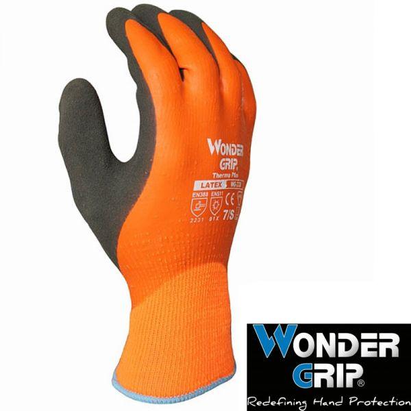 Wondergrip Thermo Plus, (WG338) vollbeschichteter Schaumlatex-Winterhandschuh, wasserdicht