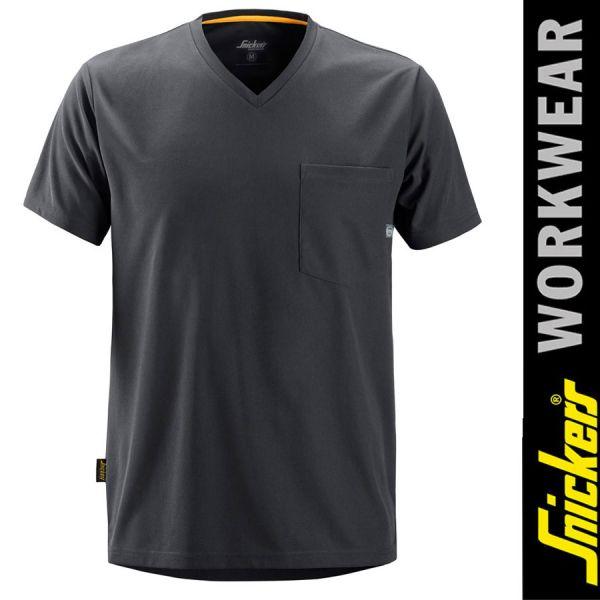 2524 Allround Work 37.5 kurzarm T-Shirt-SNICKERS WORKWEAR-steel grey