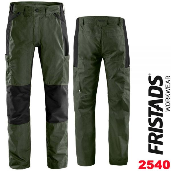 Allrounder Stretch-Hose 2540 LWR-FRISTADS- 130804-army gruen-schwarz