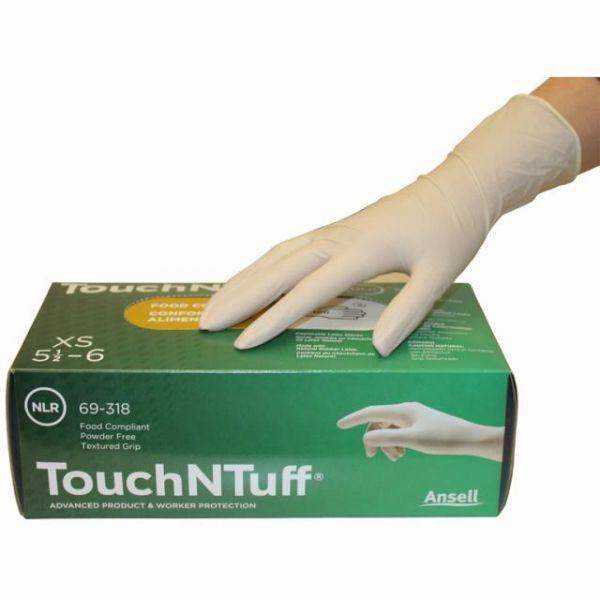 Ansell TouchNTuff Einweghandschuh weiss, ungepudert Box à 100 Stück