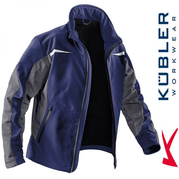 Softshelljacke - Kübler Workwear - 1241-4897 dunkelblau-anthrazit