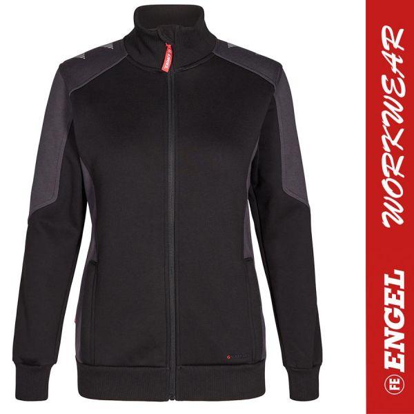 GALAXY Damen Sweatjacke - ENGEL Workwear - 8825-schwarz-anthrazit