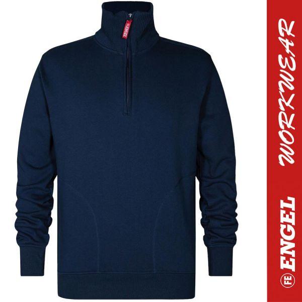 Sweatshirt mit hohem Kragen - ENGEL Workwear - 8014-blaue tinte