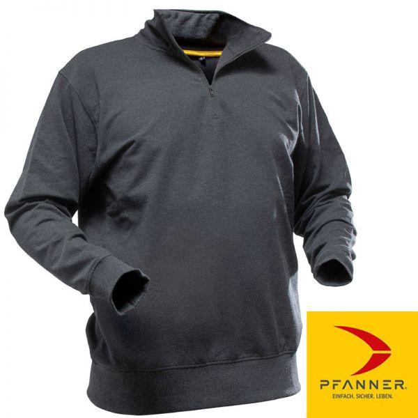 QUARTER ZIPP-Neck Sweater - Pfanner - 104379-schwarz