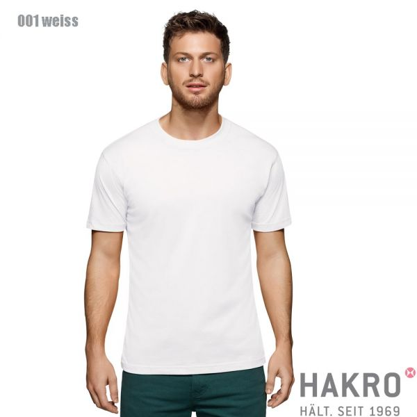 HAKRO 281,Rundhals-T-Shirt Performance-weiss