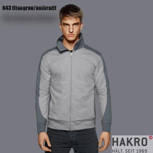 HAKRO, № 477 Sweatjacke, CONTRAST PERFORMANCE-titan-anthrazit