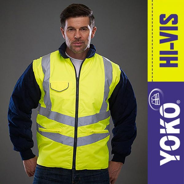 Hi-Vis Chevron Quilted Jacket - YOK703