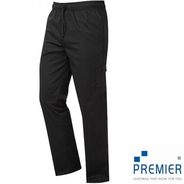 Essential Chefs Cargo Pocket Trousers, schwarz - PREMIER WORKWEAR