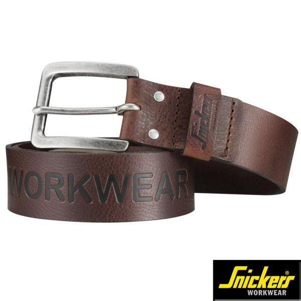 Ledergürtel, braun Snickers Workwear 9034