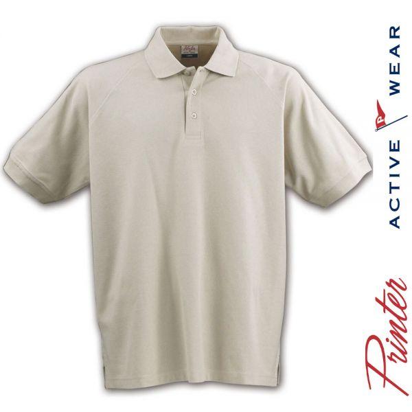 POLO Shirt- DIVING Piqué- sandfarbig - PRINTER Activwear-2265007