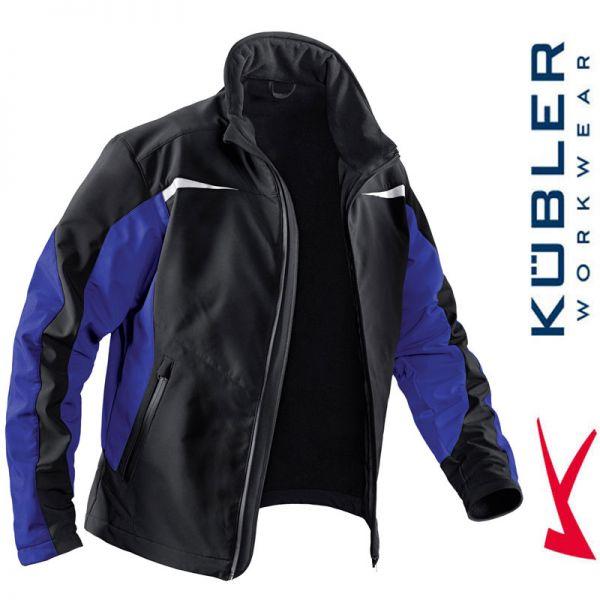 Softshelljacke - Kübler Workwear - 1241-4699 kornblau-schwarz