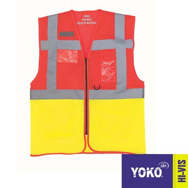 Warnschutz EN20471, Warnweste, Executive, YOKO Workwear, YK820