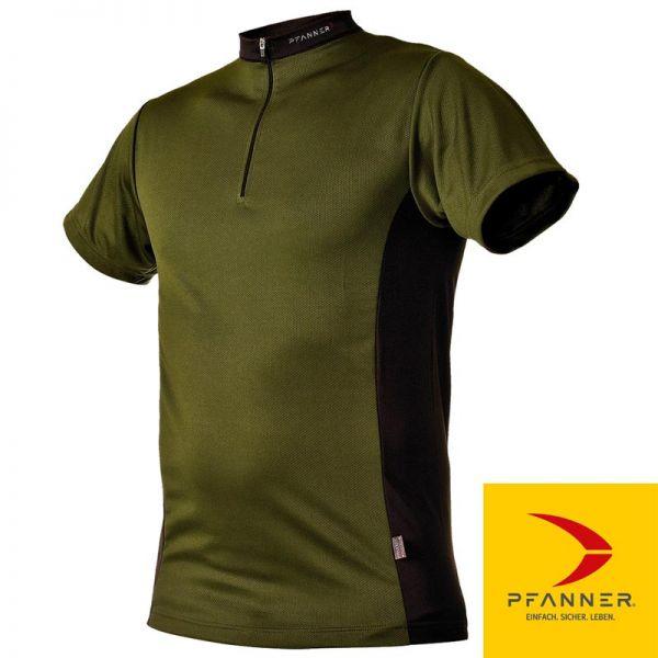 Zipp Neck Shirt kurzarm, PFANNER, 104059