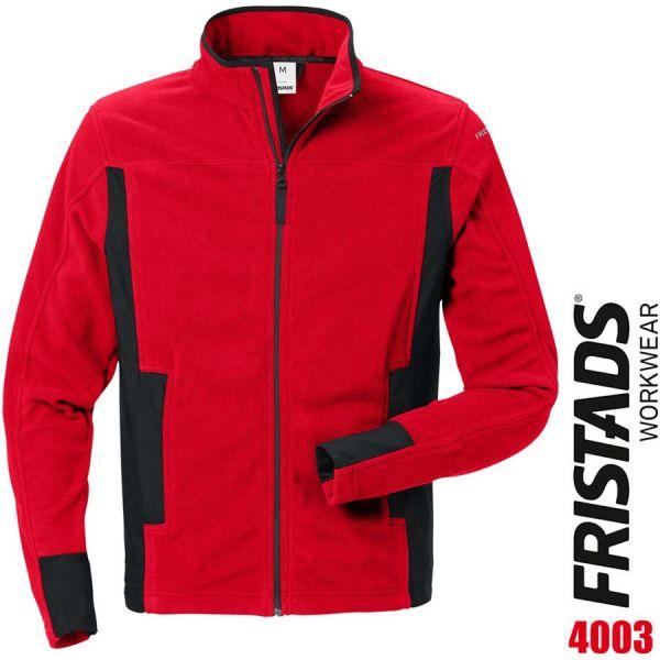 Fleecejacke 4003 MFL - FRISTADS - 120966-rot-schwarz