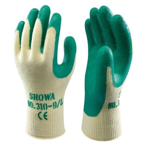 Showa-Grip grün - Handschuh, -310- Naturlatex getauchter Textilhandschuh - 7990