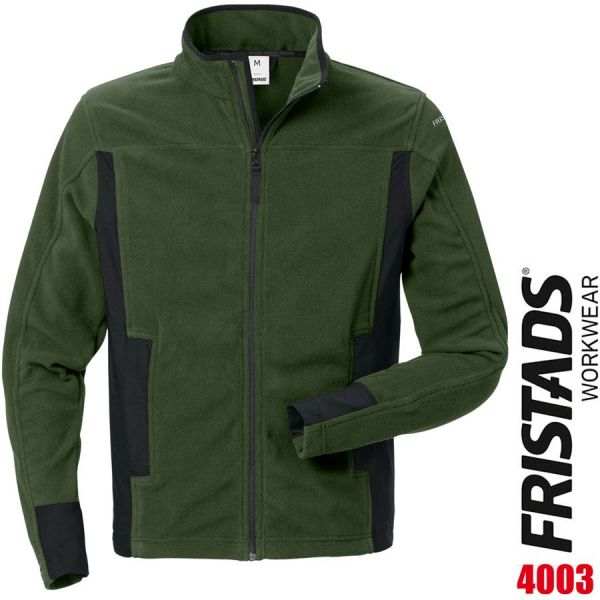 Fleecejacke 4003 MFL - FRISTADS - 120966-gruen-schwarz
