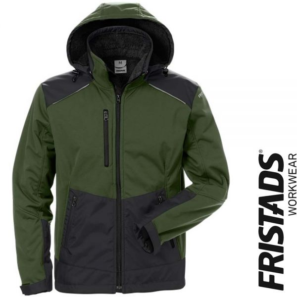 Softshell Winterjacke 4060 CFJ -FRISTADS Workwear- 127188-army gruen- schwarz