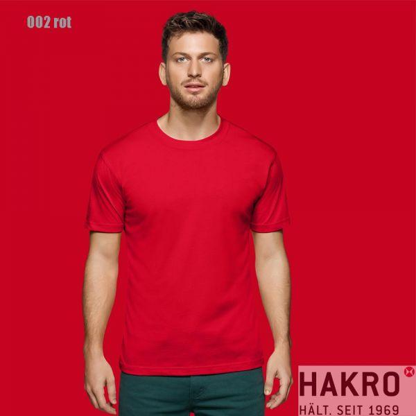 HAKRO 281,Rundhals-T-Shirt Performance-rot