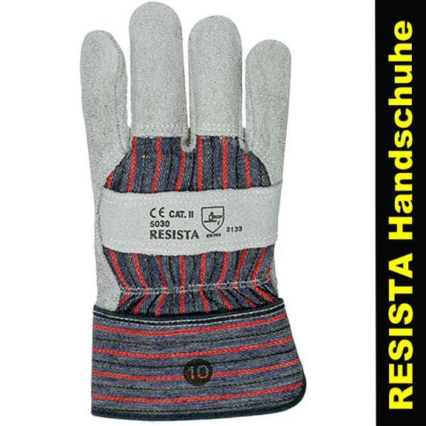 Günstige Lederhandschuhe RESISTA - rot-blau - 5030