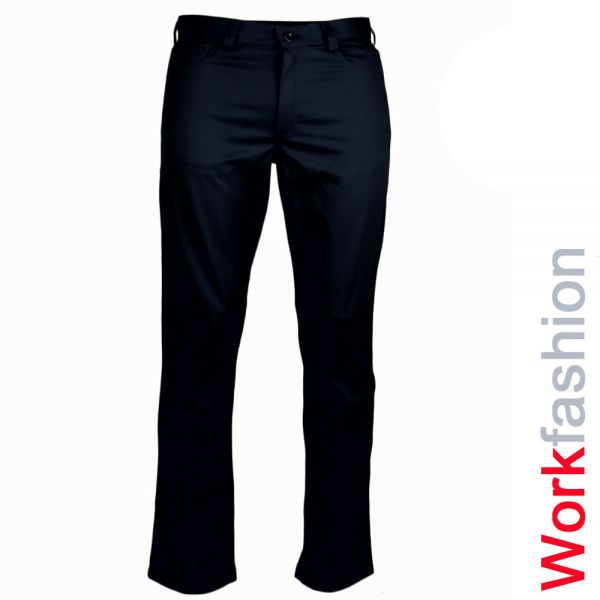 5-Pocket Jeans - Kochhose, schwarz, workfashion-322452