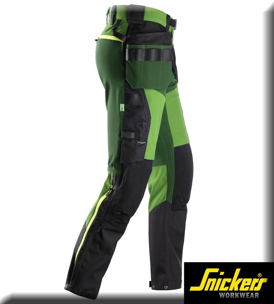 6940-Flexi-Work-Softshell-Stretch-Hose-mit-Holster-Taschen-SNICKERS-apple-green-forest-greenCO5SpNp9iOLnm