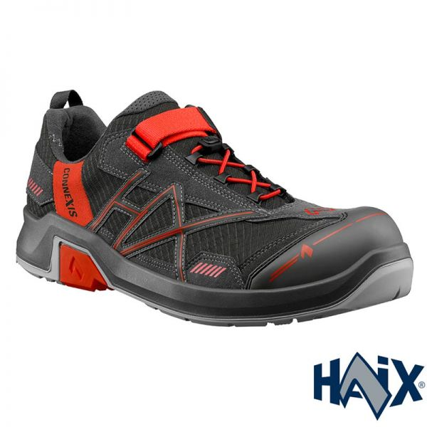 HAIX CONNEXIS SAFETY T S1 LOW GREY-RED, 630003