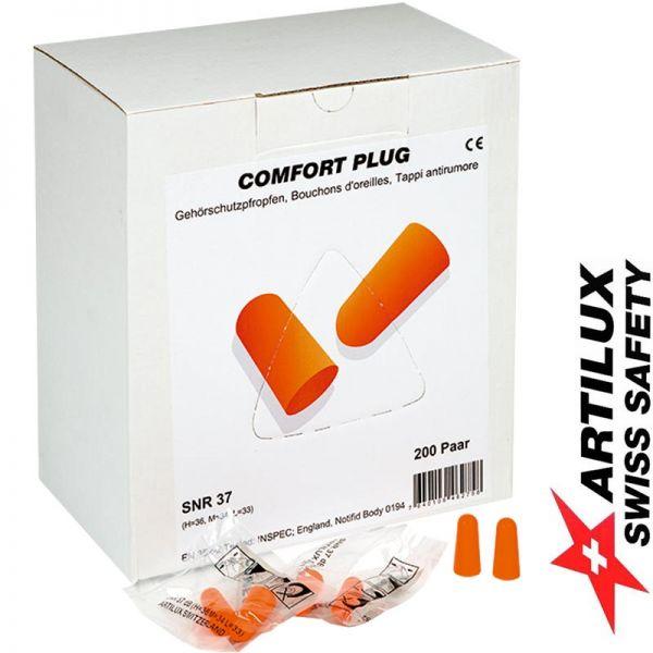 Gehörschutzstöpsel orange -ARTILUX - BOX zu 200 Paar