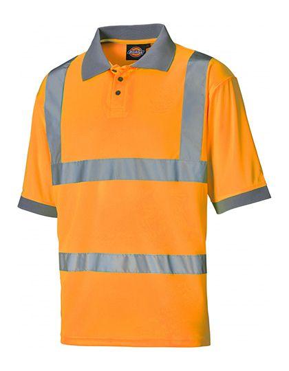 Hochsichtbares Polo Shirt, DICKIES, (DK22075)-leuchtorange