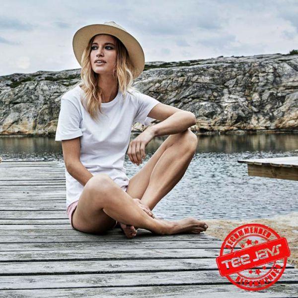 Damen Basic T-Shirt, Style 1050, TEE-JAYS-weiss