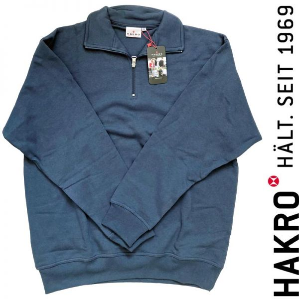451 HAKRO ZIP - Pullover - DENIM-blau - SALE !