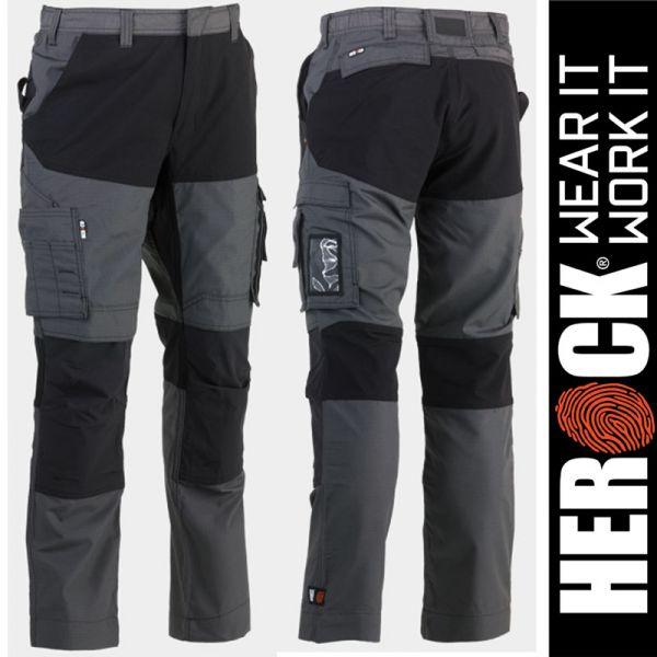 HECTOR Arbeitshosen-GRAU-schwarz, HEROCK Workwear, 23MTR1803
