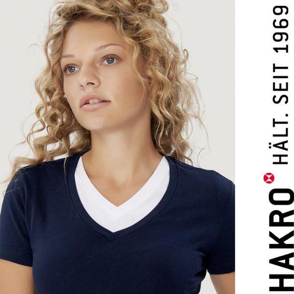 NO. 172 HAKRO DAMEN V-SHIRT STRETCH