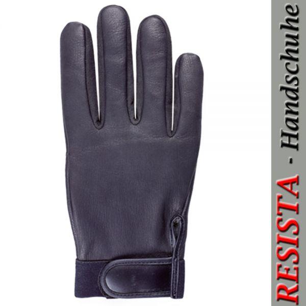 Schwarze Hirschnappalderhandschuhe 5688 für Polizei - Wachdienste