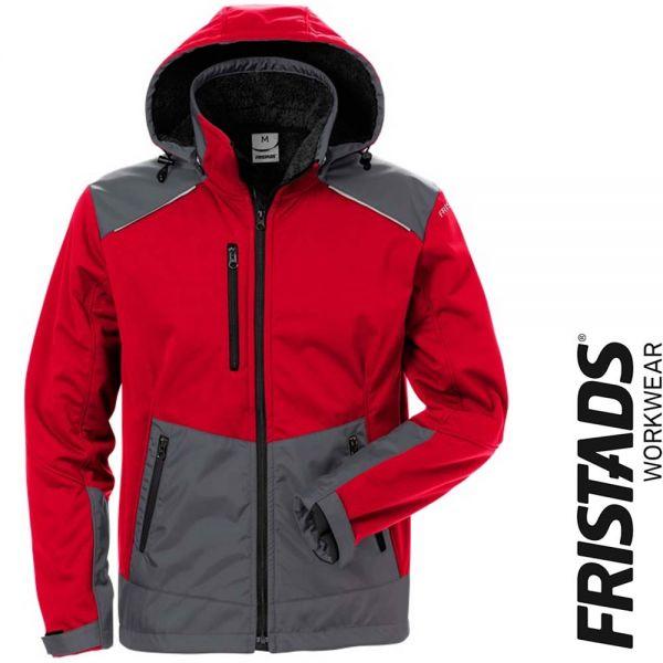 Softshell Winterjacke 4060 CFJ -FRISTADS Workwear- 127188-rot-grau