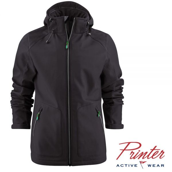 Soft Shell Karting Jacket, Herren, Printer activewear, 2261061-schwarz